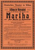 Plakat: Deutsches Theater Wilna 1916