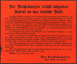 Poster: Warning against riots and report of beginning armistice negotiations. Appeal issued by Max, Prince of Baden, November 6, 1918.