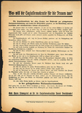 Flyer: SPD standpoints on equal rights, election programme 1919.