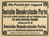 Poster by the DDP – Partei der Jugend (Party of the Youth), 1919.