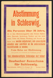 Poster: Referendum on Schleswig (cession of territory to Germany or Denmark), 1919.
