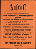 Appeal issued by the Worker's and Soldier's Council of Frankfurt (Oder) on November 12, 1918.