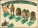 Was wir verlieren sollen! (What we shall lose!) Poster by Louis Oppenheim against the Treaty of Versailles, 1919.