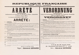 Poster: Ordinance issued by the French occupying power on censorship, August 1919.